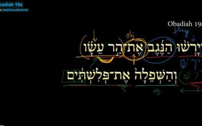 Obadiah 19a
