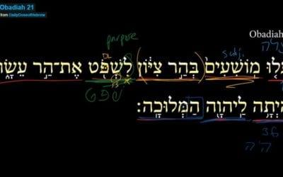 Obadiah 21